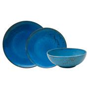 Aparelho de jantar de porcelana nature blue 18 peças