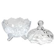 Bomboniere de vidro 19 cm