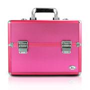 Maleta de maquiagem rosa 30x25 cm