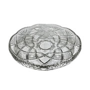 Prato de vidro redondo larous 28 cm