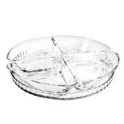 Petisqueira de vidro Denis com 05 peças