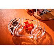 Petisqueira de vidro Versai com 03 peças