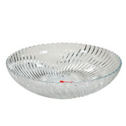 Saladeira de vidro redonda santa 28 cm