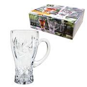 Jogo de Caneca de vidro Mug Sun Star 280 ml 06 peças