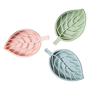 Saboneteira de plástico Folha colors 18x10 cm