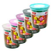 Porta mantimento redondo canister colors 800 ml