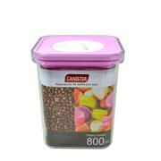 Porta mantimento quadrado canister colors 800 ml