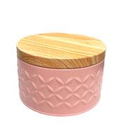Lata de metal rosa 06 cm
