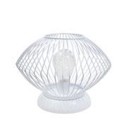 Luminária aramada com led branca 18 cm