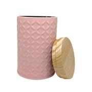 Lata de metal rosa 11 cm