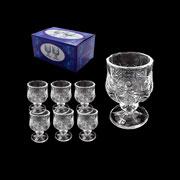 Jogo mini taças de licor de vidro 06 peças