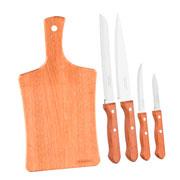 Conjunto de facas e tábua 05 peças - Tramontina