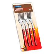 Conjunto de garfos jumbo Polywood Vermelho 04 peças - Tramontina