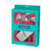 Jogo de utensílios Easy preto 05 peças - Tramontina