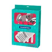 Jogo de utensílios Easy branco 05 peças - Tramontina
