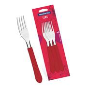Conjunto de garfos de mesa vermelho 3 peças - Linha Leme - Tramontina