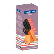 Conjunto de faca Plenus com suporte 06 peças - Tramontina