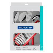 Jogo de utensílios Easy vermelho 05 peças - Tramontina