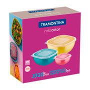 Jogo de potes Mixcolor misto 03 peças