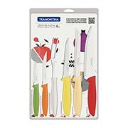 Jogo de facas inox Plenus colors 06 peças- Tramontina
