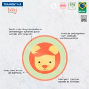 Prato infantil baby friends leão 20 cm - Tramontina