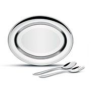 Jogo para servir salada inox Buena 03 peças - Tramontina