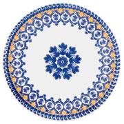 Prato raso de porcelana La Carreta 25,5 cm