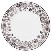 Prato raso de porcelana Floresta Negra 28 cm