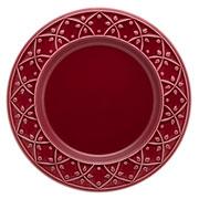 Prato raso de porcelana Relevo Corvina 26 cm