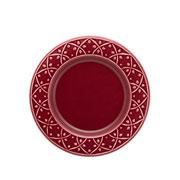 Prato de sobremesa de porcelana Relevo Corvina 20 cm