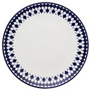 Prato de porcelana raso Chess 28 cm