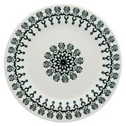 Prato raso de porcelana Folk 24 cm