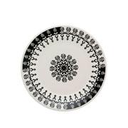 Prato de porcelana de sobremesa Folk 19 cm