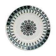 Prato de porcelana fundo Folk 22 cm