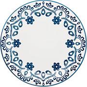 Prato de porcelana raso Energy 26 cm