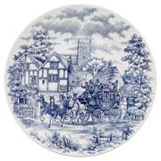Prato raso de porcelana Cena Inglesa 25,5 cm