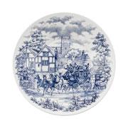 Prato fundo de porcelana Cena Inglesa 22 cm