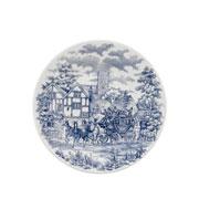 Prato de sobremesa de porcelana Cena Inglesa 19 cm
