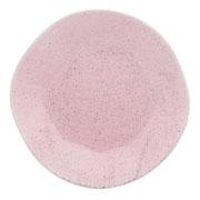 Prato de porcelana raso pink sand 27 cm