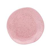 Prato de porcelana fundo pink sand 22 cm