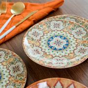 Prato raso de porcelana Castello 26 cm
