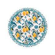 Prato p/ sobremesa de porcelana Siciliano 19 cm
