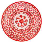 Prato raso de porcelana Renda 26 cm