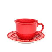 Xícara de porcelana com pires Renda 200 ml