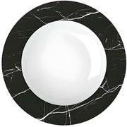 Prato fundo de porcelana versa black 23 cm