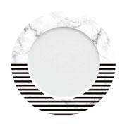 Prato raso de porcelana versa listra 27 cm
