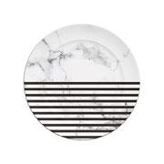 Prato de sobremesa de porcelana versa listra 21 cm