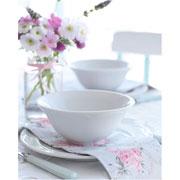 Bowl de porcelana Cottage branco 15 cm