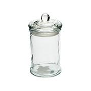 Porta Mantimento de vidro redondo liso 350 ml