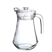 Jarra transparente em vidro dynasty 1.3 litros